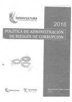 POLITICA DE ADMINISTRACIÓN DE RIESGOS DE CORRUPCIÓN